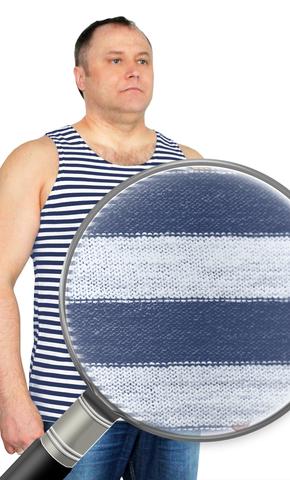 Майка-тельняшка  ГОСТ синяя полоса