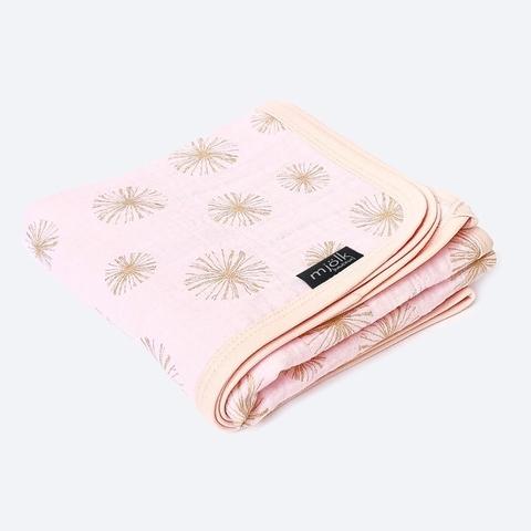 Муслиновое одеяло Mjölk Rose Quartz Metallic