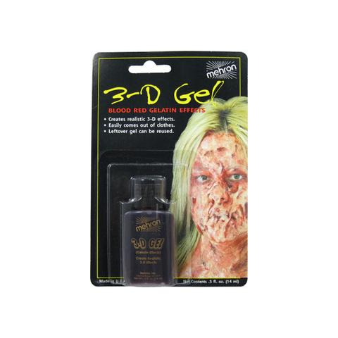 MEHRON 3-D Гель для спецэффектов Makeup 3-D Gel (0.5 oz), Blood Red - (цвет крови), 15 мл