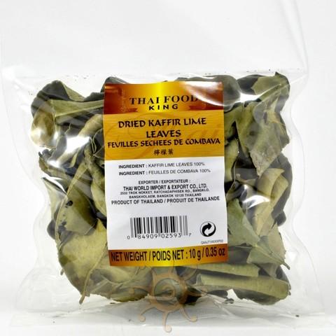 Листья каффирского лайма сушеные Thai Food King, 10г