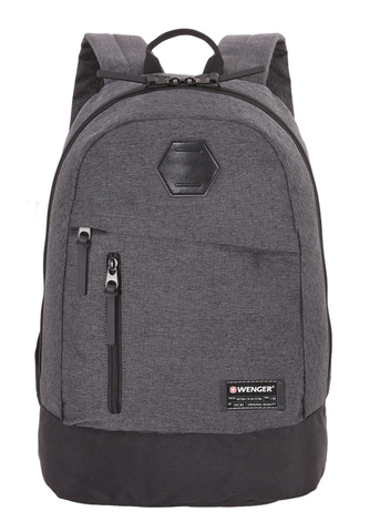 Рюкзак WENGER 13'', cерый, ткань Grey Heather/ полиэстер 600D PU , 32х16х45 см, 22 л