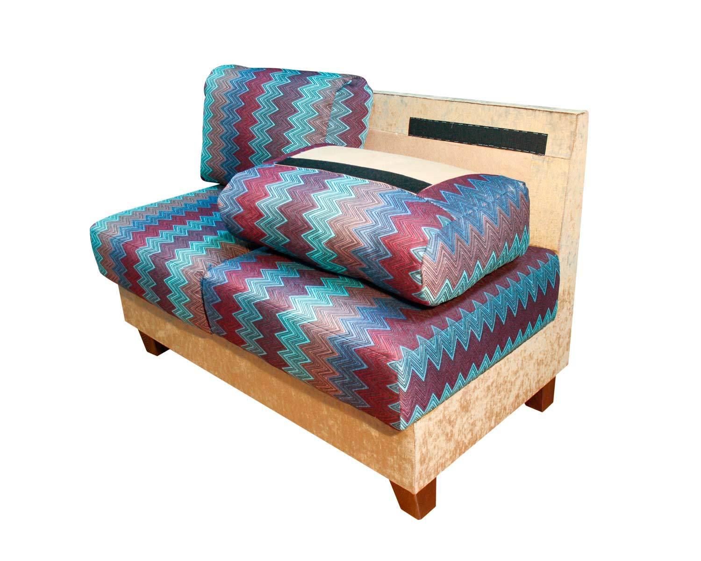 диван 2-местный Япошка, подушки фиксируются на спинке дивана