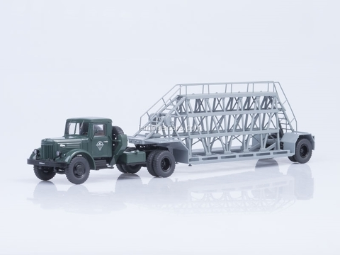 MAZ-200V with semitrailer NAMI-790 green-gray Start Scale Models (SSM) 1:43