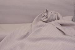 Объемный жаккард рисунок РОМБИК цвет ПУДРОВЫЙ