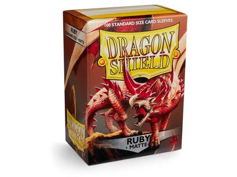 Протекторы Dragon Shield матовые Ruby (100 шт.)