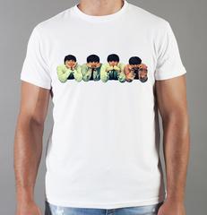 Футболка с принтом Битлз (The Beatles) белая 0011