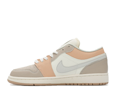 Air Jordan 1 Low GS 'Grey/White/Light Pink'