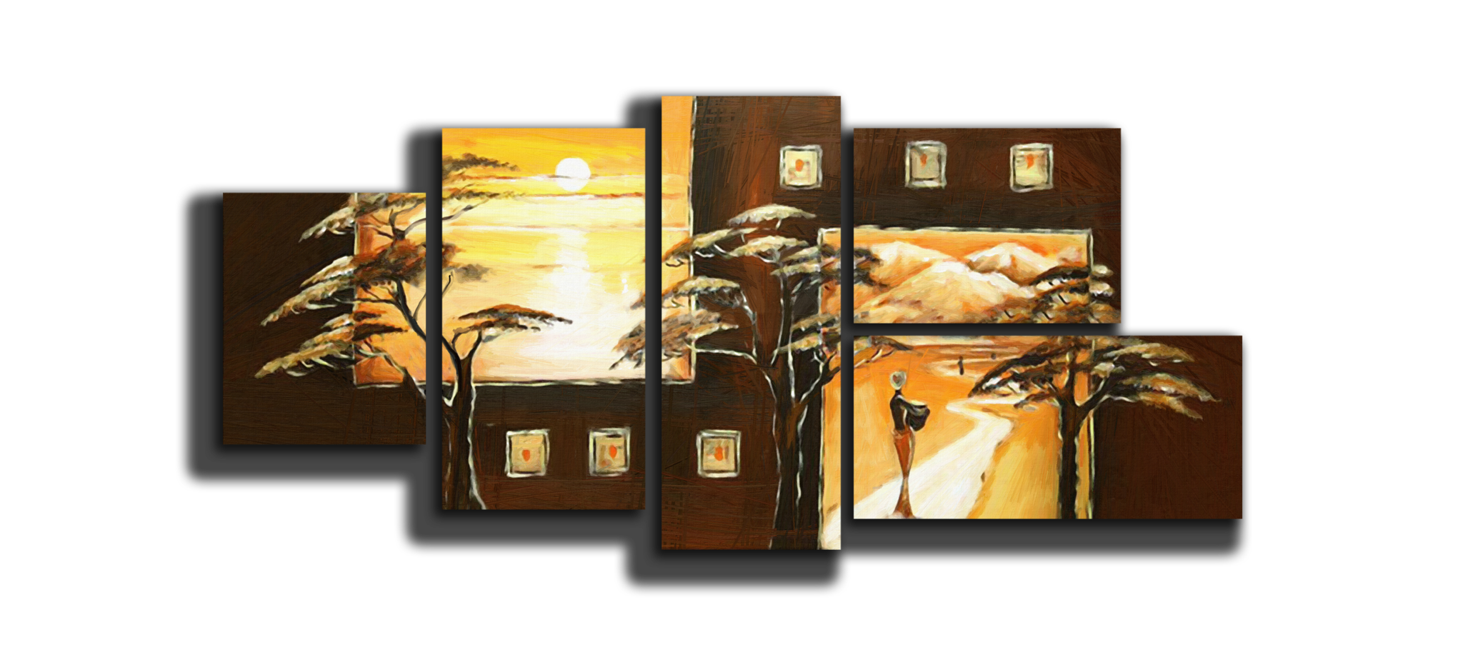 "Модульные картины Модульная картина ""Закат в саванне"" М329.psd5.png"