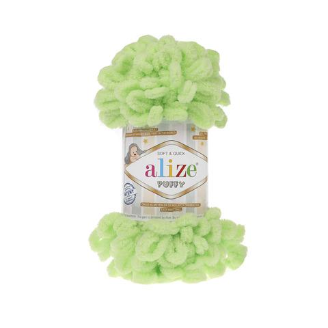 Купить Пряжа Alize Puffy Код цвета 041 Салатовый | Интернет-магазин пряжи «Пряха»