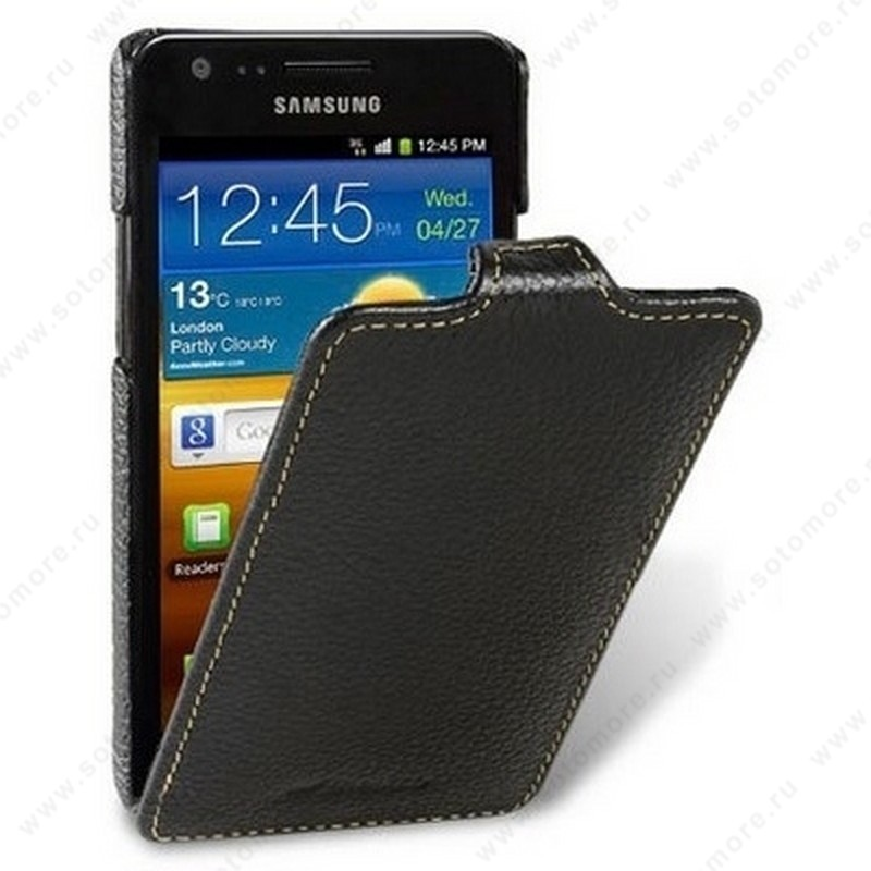 Чехол-флип Melkco для Samsung Galaxy Z/ Galaxy R i9103 Leather Case Jacka Type (Black LC)