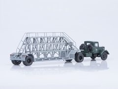 MAZ-200V with semitrailer NAMI-790 green-gray Start Scale Models (SSM) 1:43