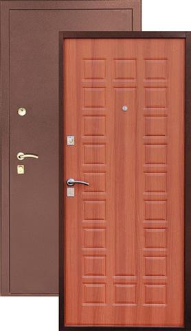 Дверь входная S-2 стальная, итальянский орех, 2 замка, фабрика Арсенал