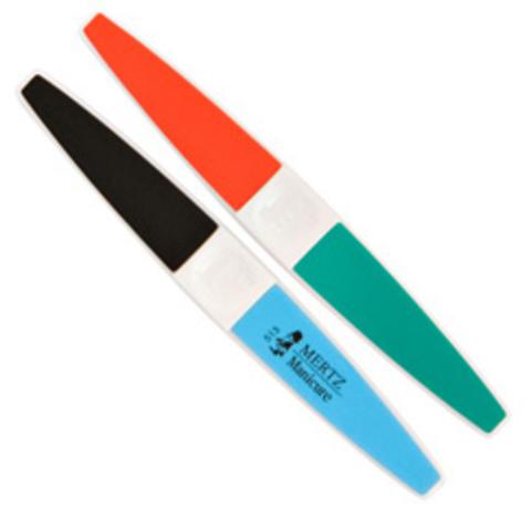 Пилка-полировка для ногтей Mertz № 513. Абразивность #240/320/600/3000 грит.