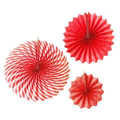 Y Набор бумажных фантов Red, 20/30/40 см, 3 шт.