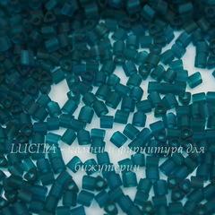 0007BDF Бисер японский TOHO Triangle (треугольный) 11/0, матовый сине-зеленый