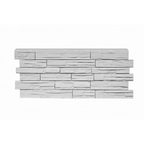 Фасадные панели (Цокольный Сайдинг) Nordside (Нордсайд) Сланец Белый