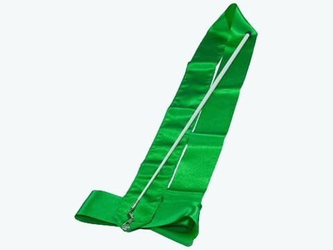 Лента гимнастическая. Цвет ленты: зелёный: АВ220-GR
