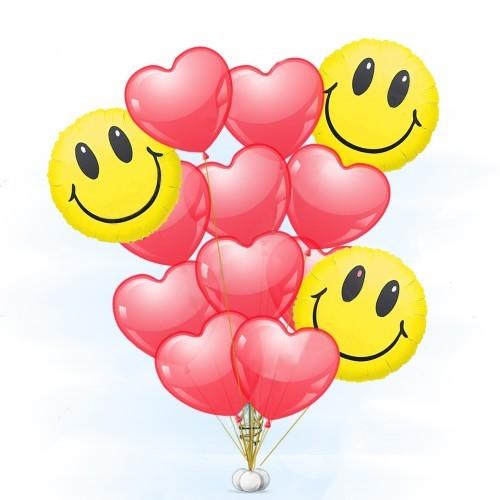 """Композиции из шаров Букет в подарок """"Отличное настроение"""" buket-smaili-i-serdca-500x500.jpg"""