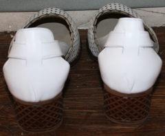 Женские босоножки на низком каблуке Evromoda 101-6 White.