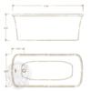 Ванна Migliore Olivia console 24268 174x80cm. акриловая отдельно стоящая схема