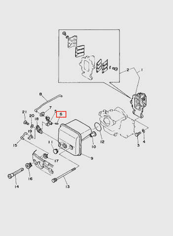 Штифт пружины системы впуска лодочного мотора T15, OTH 9,9 SEA-PRO (4-6)