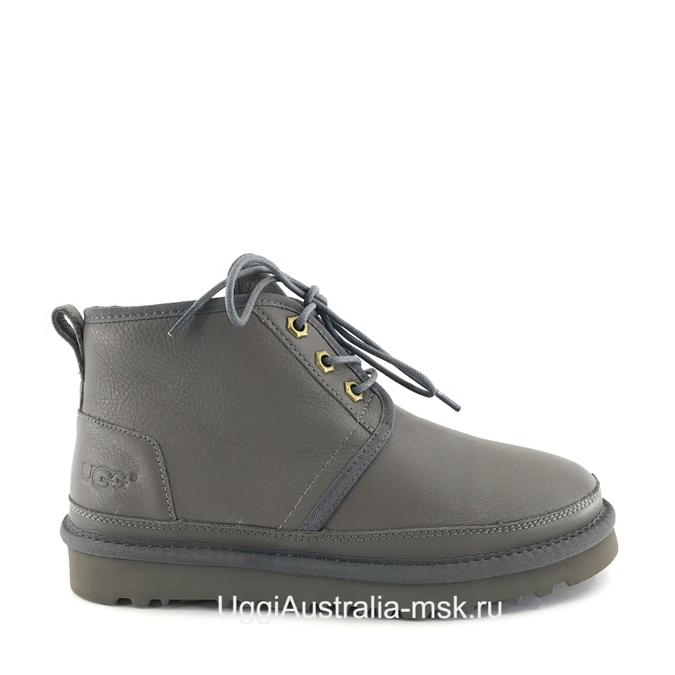 UGG Womens Neumel Leather Grey