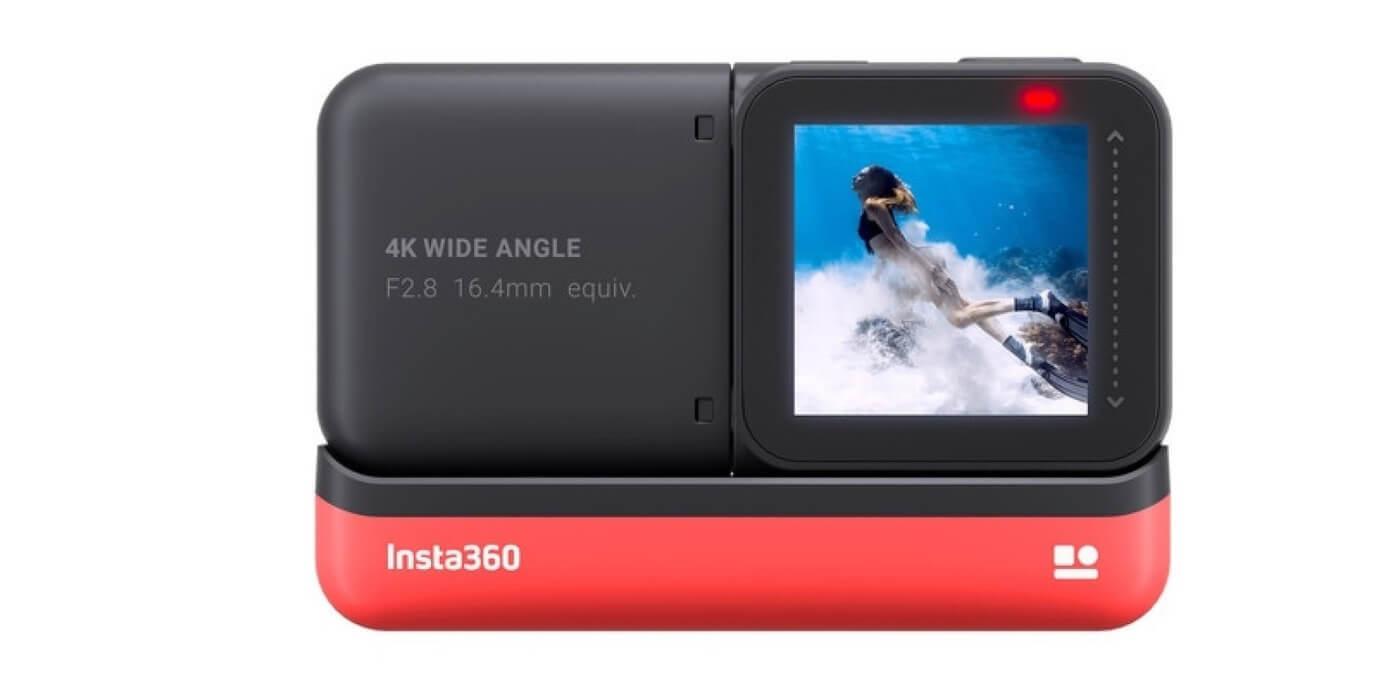 Экшн-камера Insta360 ONE R 4K сзади