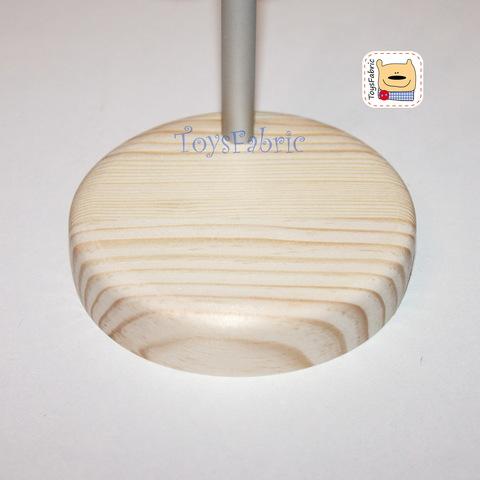 Подставка для кукол круглая D=7.5 см  (сосна) с держателем