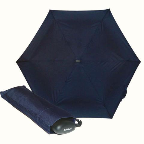 Карманный синий мини зонтик плоской формы, особо прочные материалы, фибергласс