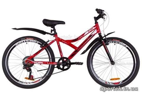 Подростковый велосипед Discovery Flint - красно-бело-черный