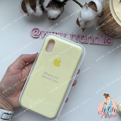 Чехол iPhone X/XS Silicone Case /mellow yellow/ волшебно-желтый 1:1