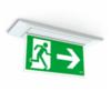 Внешний вид светового указателя направления эвакуации Aestetica LED, встроенного в потолок