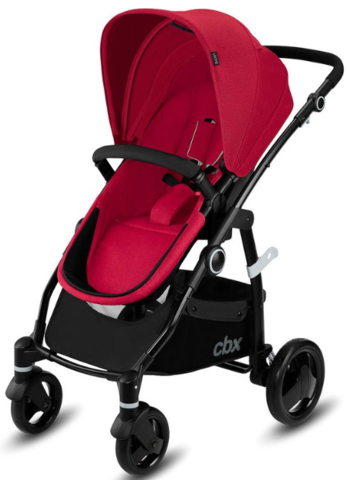 Коляска 2 в 1 Cybex CBX Leotie Pure Crunchy Red