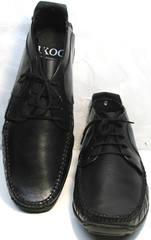 Модные мужские мокасины Ikoc 112-1Black