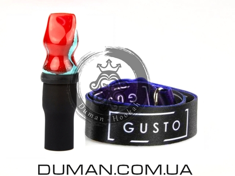 Персональный мундштук Gusto Bowls (Густо Болс) для кальяна |Red-Green Gusto