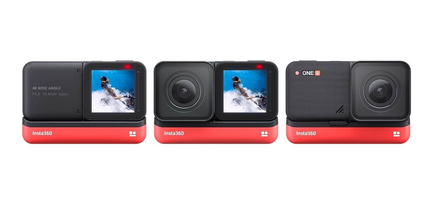 Экшн-камера Insta360 ONE R 4K варианты