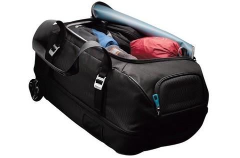 Картинка сумка на колесах Thule Crossover Rolling Duffel 56L тёмно-синяя