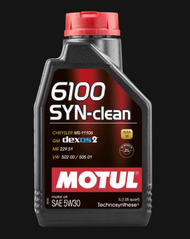 Моторное масло MOTUL 6100 SYN-CLEAN 5W30