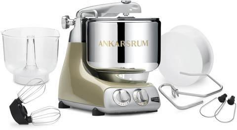 Миксер большой мощности с большой металлической чашей -тестомес Ankarsrum 6230 SG с аксессуарами, цвет: брызги шампанского