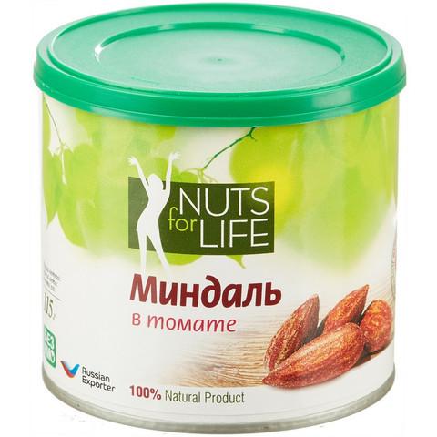 Миндаль Nuts for life жареный в томате 115 г