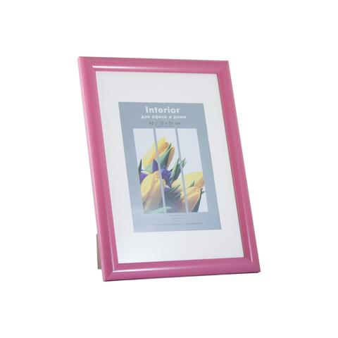 Фоторамка Автограф 21х30 Формат-А (розовый) с паспарту
