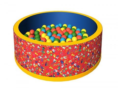 Сухой бассейн с шариками «Веселая полянка» ДМФ-МК-02.2.51.02 красный