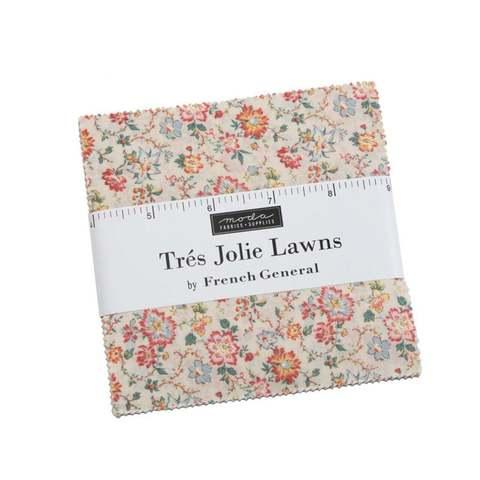 Набор ткани Charm Pack. Tres Jolie Lawns от Moda