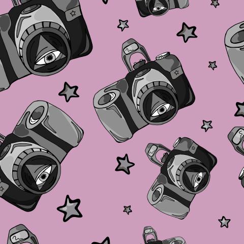 Футуристический паттерн с фотокамерами