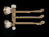 Полотенцедержатель тройной поворотный 35см. Migliore Provance ML.PRO-60.554 керамика с декором