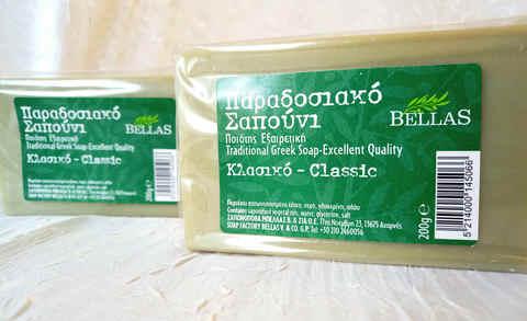Зеленое оливковое мыло Bellas Греция