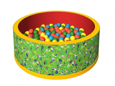 Сухой бассейн с шариками «Веселая полянка» ДМФ-МК-02.2.51.02 зеленый