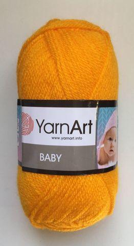 Пряжа YARNART BABY № 586 ярко желтый