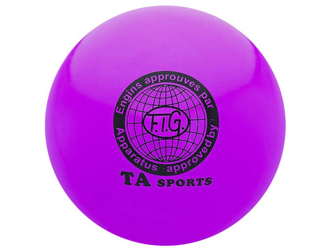 Мяч для художественной гимнастики. Диаметр 15 см. Цвет фиолетовый.:(Т11):
