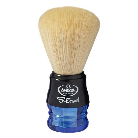 Помазок для бритья Omega синтетика синяя ручка S10077